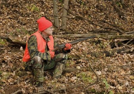 hunter wearing hunter orange